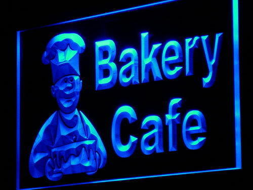 Bakery Cafe Shop Bread Cake Neon Light Sign